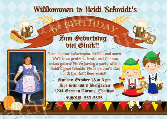 Photo personalized german oktoberfest invitation for kids like this item stopboris Image collections
