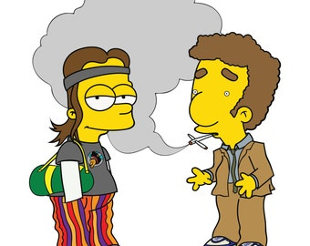 Bart&Milhouse X Pineapple Express HQ A4/A3 Prints.
