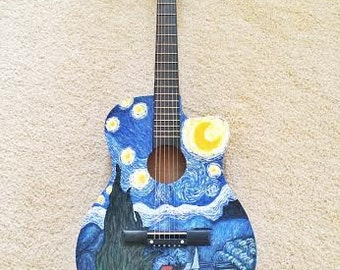 Custome Hand-Painted Acoustic Guitar