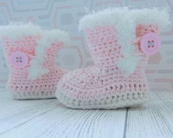 Custom* Crochet baby ugg booties, baby shows, baby gift/baby shower