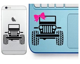 Jeep Decal - Glitter Jeep - Jeep Sticker - Laptop Decal - Cell Phone Decal - Laptop Sticker - Car Decal - Tumbler Decal