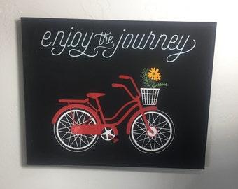 Enjoy the journey canvas
