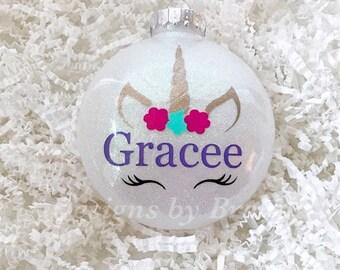 Unicorn ornament // personalized unicorn Christmas ornament // Personalized Unicorn // Christmas Ornament