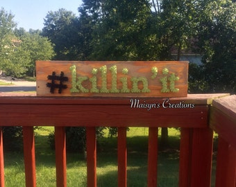 Hashtag Killin' It String Art Sign | MADE TO ORDER