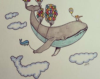 A Whale of a Journey A4 print