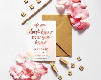 Save the Date DIGITAL DOWNLOAD / Wedding / Engagement / Announcement / Invitations / Wedding Invitations / Bridal / Biggie / Funny