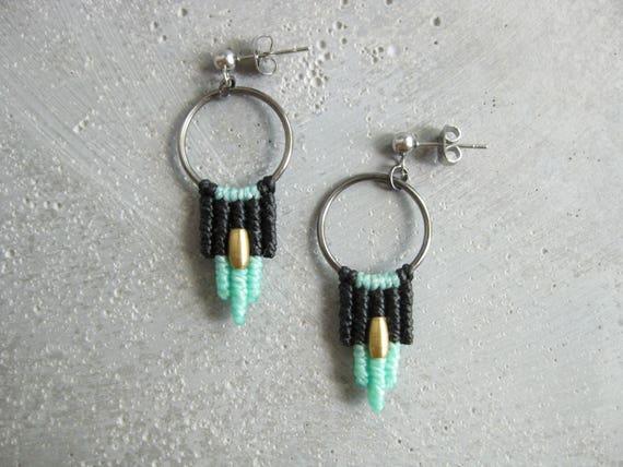 Samba . Modern Macrame Earrings . © Design by .. raïz ..