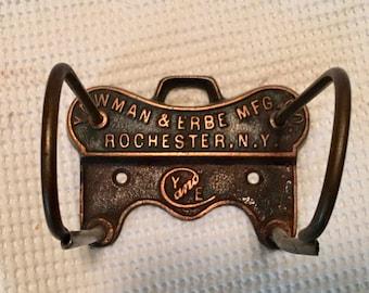 Vintage hanging receipt holder