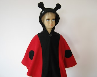 lady bug halloween carnival costume cape for toddlers