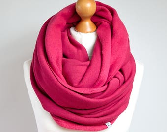 Infinity Scarf, hooded infinity scarf, PINK chunky infinity scarf, oversized scarf, cozy chunky scarf,gift for her, gift ideas, winter scarf