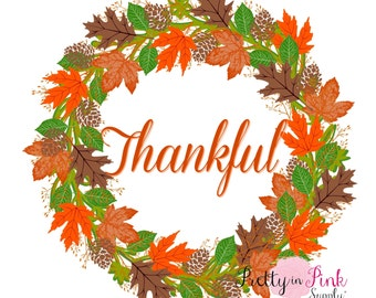 "Iron On Vinyl ""Thankful"" Thanksgiving Decal- DIY Iron On Patch- Vinyl Patch-Iron On Letter Transfer- DIY Heat Transfer Vinyl"