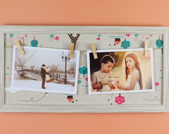 Photo Display, Clothespin Clips for Hanging Photos, Prints and Artwork