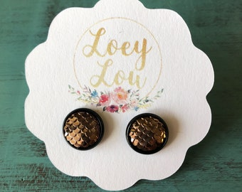Brown Mermaid Studs