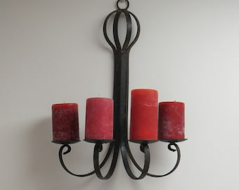 Candle Holder, Rough Metal Wall Decor, Gothic Candles, Medieval Metal, Wall  Sconce