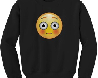 Color Emoticon - Surprise Smile Adult Crewneck Sweatshirt