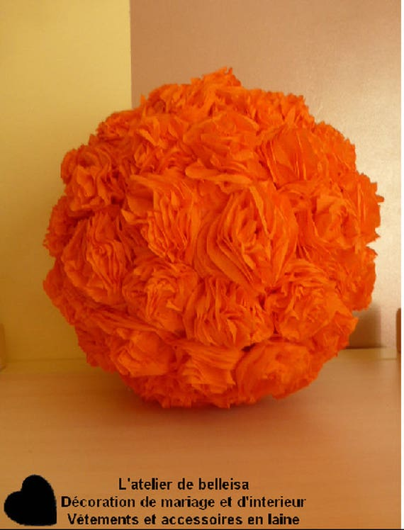 Crepe paper flower ball orange decorations description mightylinksfo