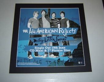 All American Rejects Dirty Little Secret  Original  Poster in A Custom Made Mount Ready To Frame