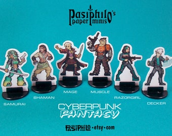 Cyberpunk-Fantasy Characters 28mm Role-playing Game Miniatures