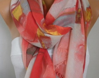Pastel Tones Cotton Scarf, So Soft Shawl bohemian Scarf, Birthday Gift, Cowl Oversized Wrap Gift Ideas For Her Women Fashion Accessories