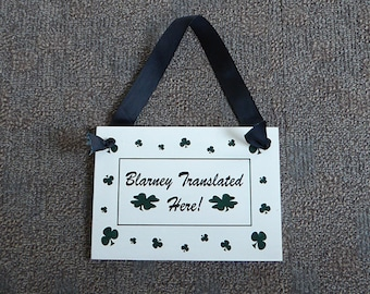 St Patty's sign, Irish sign, Funny Irish sign, Small hand painted sign