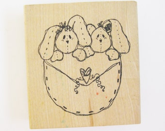 DIY Papercraft Supply Cute Bunnies Large Craft Rubber Stamp Planner Goody Rabbits Art Craft Easter Card Scrapbooking Collage Stamping Supply