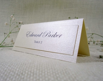 Simple Wedding Place Cards Name Place Cards for Weddings Cream Place Cards