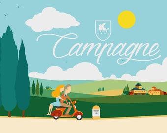 Poster illustration Veronatuti campaign