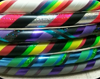 custom dance/exercise hula hoop (you choose any size, weight, colors)