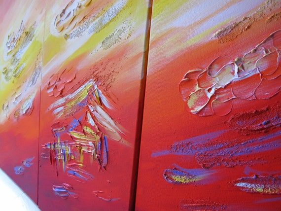 "Yin Lum - Three 12""x24"" swimming with dolphins mermaid fantasy tropical coconut island sunset sunrise hawaii painting YINART wall art decor"