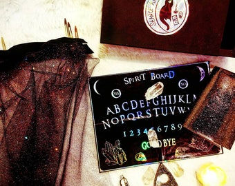 Seance kit mini holographic ouiji spirit board travel witchy occult modern tiny