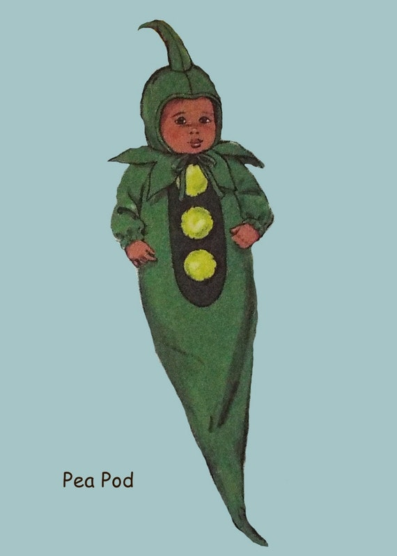 & Pea Pod Baby Bunting Costume with Hat