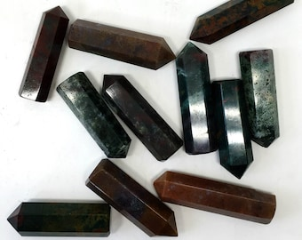 Moss Agate Crystal Point, Heart Chakra Crystal, Fertility Stone, Wealth Stone, Healing Crystal, Use In Crystal Grids, Polished, Meditation
