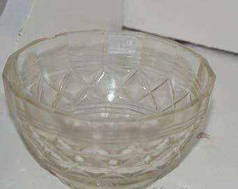 Vintage molded glass, Sweden Bowl