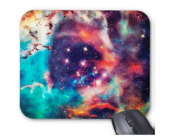 Galaxy Mouse Pad, Colorful Nebula/Space Print Mousepad