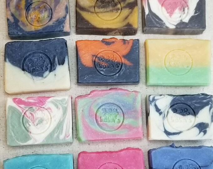 10 Pack Assorted Soap Goddess Loves Shakespeare Handmade Barely-Scented Soaps