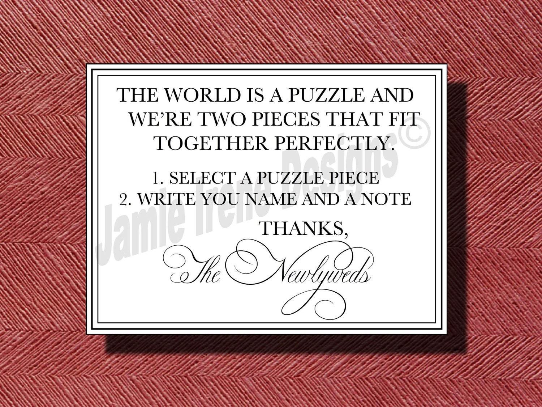Wedding Puzzle Guest Book Sign | Wedding Ideas
