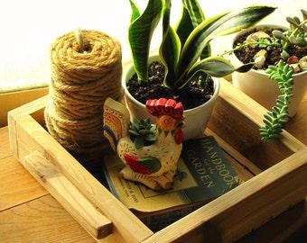 Handmade Wooden Cedar Tray Multi Purpose Home and Garden