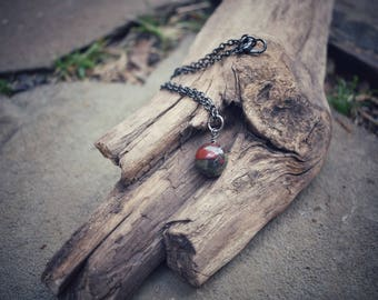 Dragon's Blood Jasper Necklace, Healing Necklace, Gemstone Necklace, Witch's necklace, Pagan Jewelry, Free Shipping Jewelry, Chakra Healing