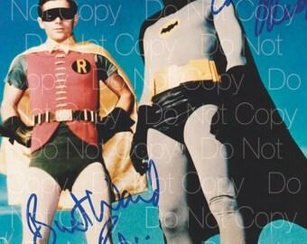 Batman & Robin signed Adam West Burt Ward 8X10 photo picture poster autograph RP