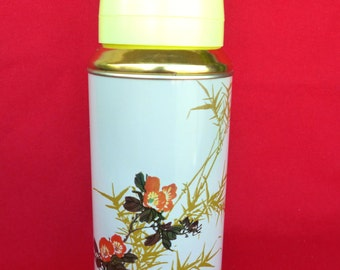 New Old Stock 80's Thermos - Vintage Thermos - Coffee Thermos - Tea Thermos -Travel Thermos 20oz/0.62lt SUNFLOWER China  Nr36