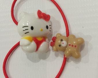 Vintage Hello kitty Sanrio ponytail holder made in Japan 1986