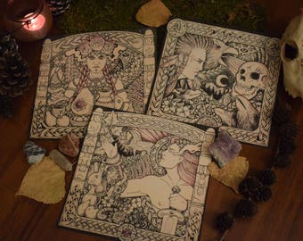 viking celtic slavic print pack fantasy art