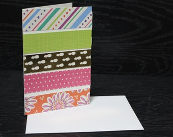 Tropical Pineapple Note Cards, Blank Cards with Envelopes
