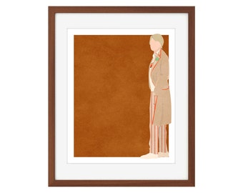 Doctor Who print - the Fifth Doctor/Peter Davison