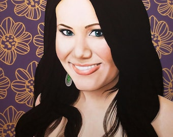 True Beauty - Vivian Bro - ART PRINT - 8 x 10 - By Toronto Portrait Artist Malinda Prudhomme