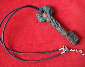 Necklace, woodland themed necklace, key necklace, costume accessory, Pagan necklace,Ooak jewellery,Fantasy gift,pagan gift,Fantasy jewellery