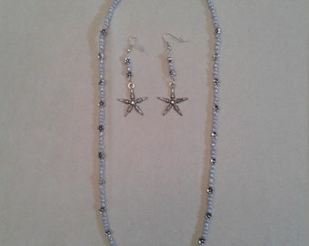 small grey necklace star