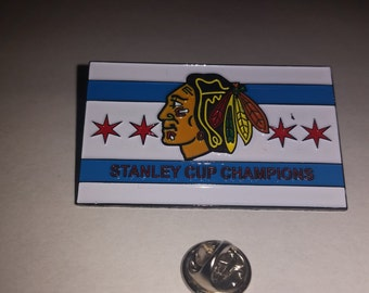 City of Chicago Blackhawks Lapel Pin