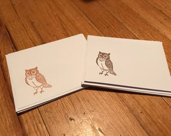 Blank owl cards