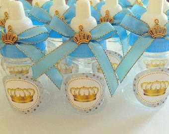 Perfect 12 Little Prince Baby Shower Favors   Little Prince Blue And Gold  Royal Prince  Baby